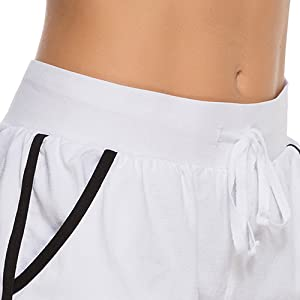 Comfort waistband with drawstring