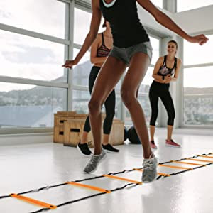 champion agility ladder training equipment speed cones  football soccer exercise set workout ladders