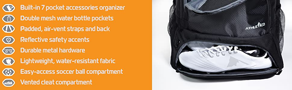 Soccer Backpack Features Athletico