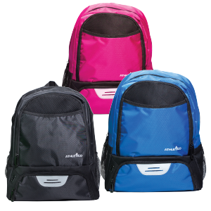 Soccer Backpack Black, Pink, Blue, Small Athletico