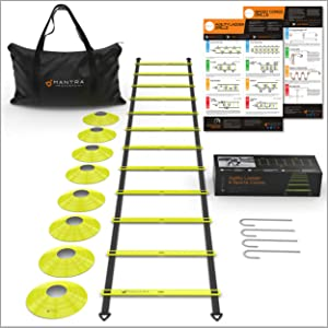 escalera para ejercicios speed cones  football soccer exercise set workout ladders