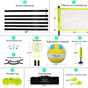volleyball net and badminton net