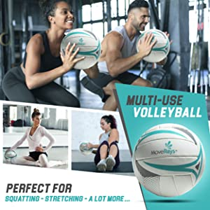 Multi use volleyball perfect for squatting stretching twisting and a lot more