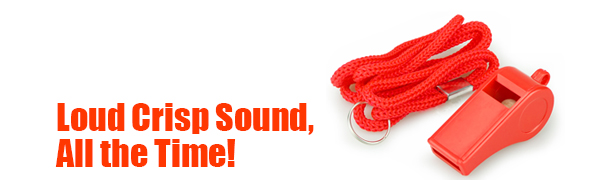 Red Emergency Whistles with Lanyard, Whistle Bulk Ideal for Lifeguard, Self-Defense and Emergency