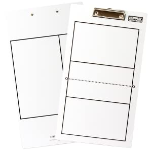 Murray Sporting Goods Dry Erase Volleyball Coaches Clipboard - Front: Full Court, Back: Half Court