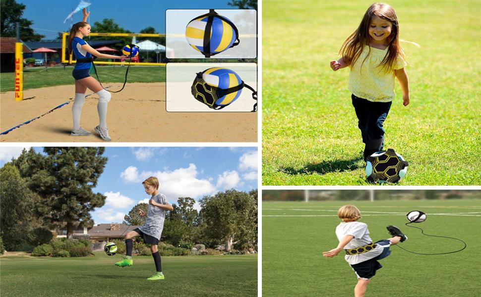 Taeku Solo Football Skill Kick Belt is suitable for a variety of ways to practice