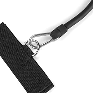 Small, lightweight Velcro wrist and ankle cuffs minimize ball contact and interference