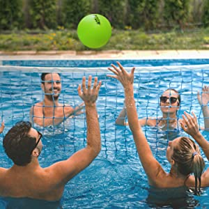 gosports volleyball swimming pool party games sports activity adults kids soft touch waterproof