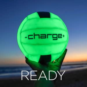chargeball glow in the dark volleyball