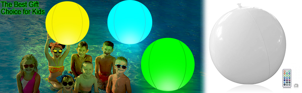 The children play beach ball in the pool. The best gift choice for kids.