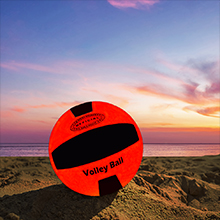 Blazing Red Light Up Volley Ball by GlowCity