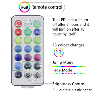 White beach balls with 13 colors LED lights, remote, timer