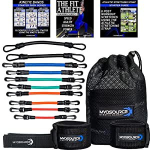 kinetic bands leg resistance speed bands for advanced athletes heavy iron clips sports training kit
