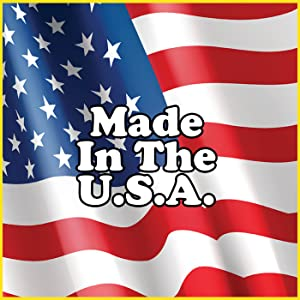 made in the usa USA Local American Made America Manufactured In Austin Texas Over US Flag and Stars
