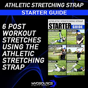 athletic stretching strap for post workout stretches injury prevention warm-up flexibility guide