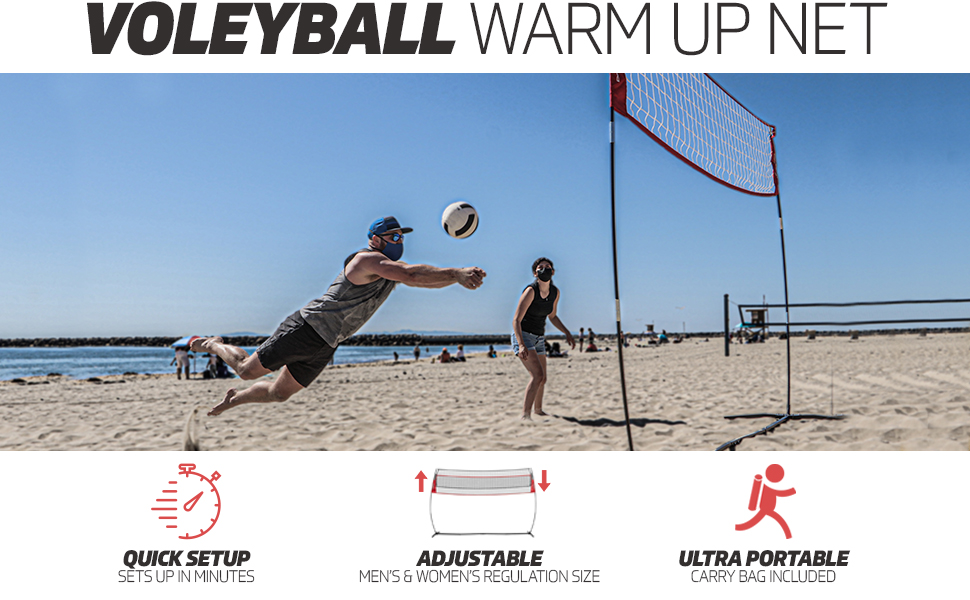 Powernet's warmup volleyball net
