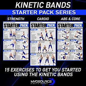 kinetic bands leg resistance bands weight loss exercise workout guide booty bands cardio strength