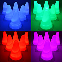 Light Up LED Cones