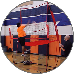 Stop chasing down balls during practice with the Powernet Volleyball Station.