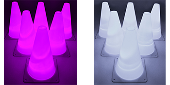 GlowCity LED Light Up Agility Cones Pink & White Sets
