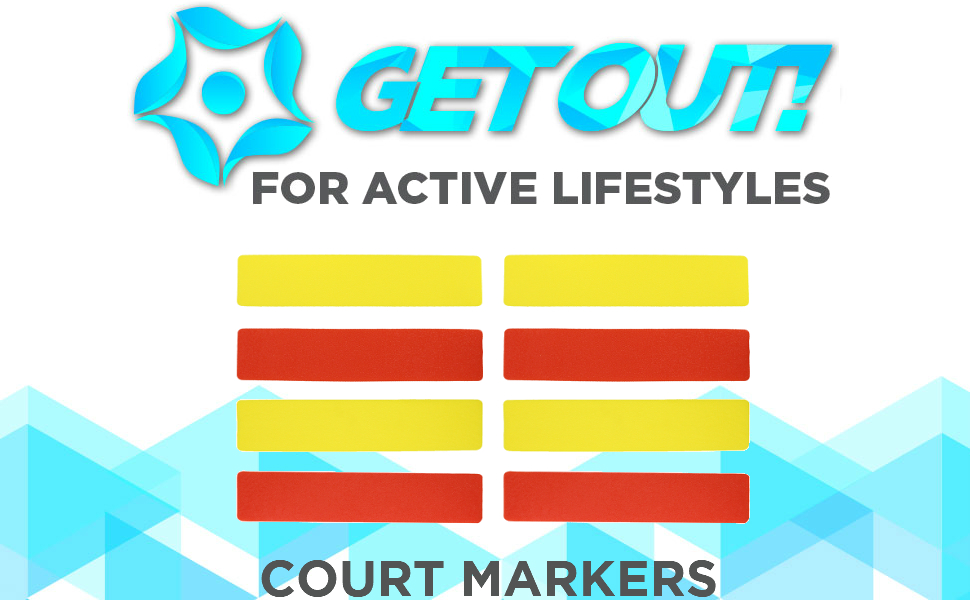 Get Out! - For active lifestyles - Court markers